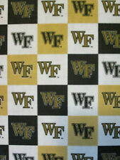 WAKE FOREST WF DEACONS SQUARES COTTON FABRIC FQ