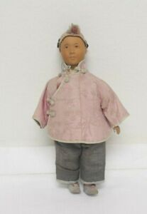 Chinese Door of Hope Mission Doll Wood head & hands w/Original Clothing