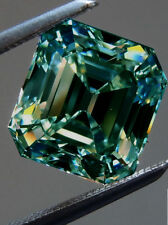 16.88 ct VVS1 BLUEISH GREEN COLOR EMERALD LOOSE REAL MOISSANITE 4 RING/PENDANT