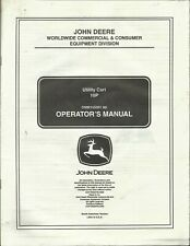 JOHN DEERE UTILITY CART 10P OMM15501 A6 English Spanish Tractor Operator Manual