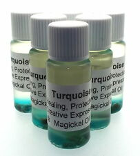 Turquoise Gemstone Magickal Anointing 10ml Oil Healing Protection