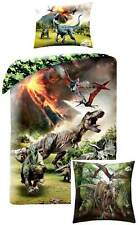 Jurassic World Bed Cover Cushion Dino Reversible Bedding Decorative T-Rex