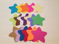 """DIE CUTS LARGE STARS LOT OF 30 4.5"""" H"""