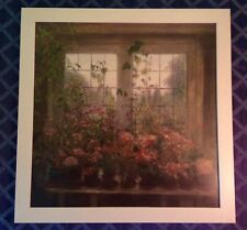 "Framed Litho Print by Piet Bekaert~""Family Portrait of Pink, Spring Flowers"" EUC"