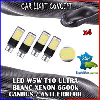 4 x ampoule Veilleuse LED W5W T10 ULTRA BLANC XENON 6500k voiture auto moto