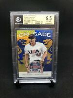 Corey Seager RC 2015 Blue Refractor Rookie BGS 9.5 Gem Mint No Auto Panini MVP🔥