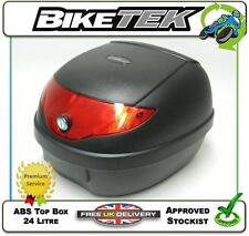 NEW UNIVERSAL BIKETEK REMOVABLE LOCKABLE TOP BOX 24L MOTORCYCLE MOTORBIKE MOPED