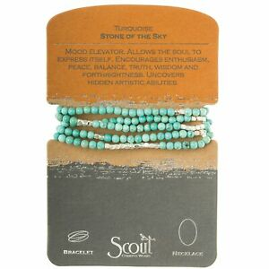 Scout TURQUOISE Stone of the Sky BRACELET or NECKLACE Jewelry Wrap SW006