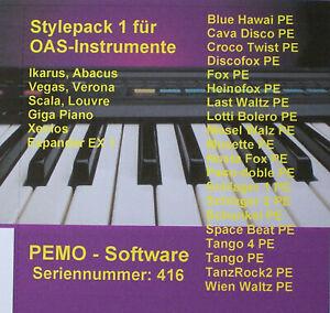 PEMO Software Stylepack 1 für Wersi OAS und OAX Instrumente