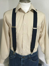 """New, Men's, Navy Blue Bostonian, XL,1.5"""", Adj. Suspenders / Braces, Made in USA"""