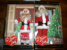 Lot of 2  I Love Lucy Santa Barbie The Christmas Show & Ricky