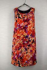 "24w 2x Maggie Barnes Floral Poly Spandex Sheath Sleeveless Dress 39"" Long"