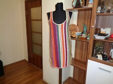 HENRIK VIBSKOV STRETCH BAMBOO JERSEY MULTICOLORED STRIPED TANK TUNIC-SIZE XS