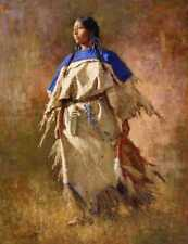 Howard Terpning SHIELD OF HER HUSBAND, w/remarque, giclee canvas #81/90