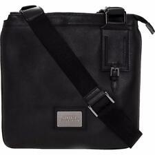Versace  Collection Black Leather Shoulder Messenger Bag-Great Gift