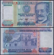PERU P147**500000 INTIS ***ND 21-12-1989***UNC GEM**SEE FULL DESCRIPTION