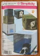Simplicity Pattern 4713 Pet Dog Cat Crate Carrier Covers Longia Miller