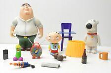 Mezco Family Guy Peter Stewie Brian Action Figure set great shape! 3 figures