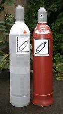 gefüllte Eigentumsflaschen Sauerstoff 20 Liter 200 bar / Acetylen 20 Liter