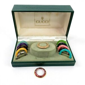 Vintage Gucci Color Bezels Womens in Box ~ NO WATCH