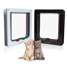 Pet Small Medium Large Pet Cat Dog Lockable Safe Plastic White Frame Flap Door T