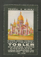 Switzerland TOBLER Chocolate advertising stamp (Temples & Churches #312)