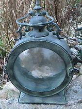 Metall Laterne Windlicht Bullauge maritimes Design Glas antike Optik Antik Stil
