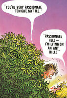 Rude Risque Postcard - Passionate Sex Tonight - Vintage Comic Series #24 Funny.