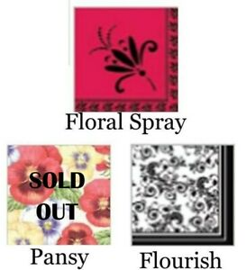 Printed Paper Party Napkins Serviettes - Floral Designs 2 Ply 20pk