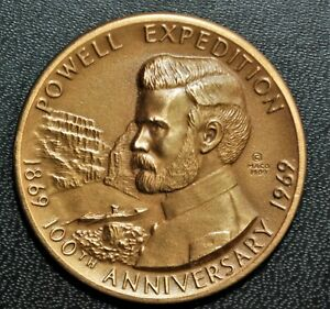 1969 Utah, Powell Expedition 100th Anniversary Medal, AE 35mm