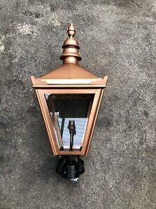 lamp post lantern Copper Colour Victorian Style Traditional Medium Size Lantern