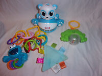 """Cookie Monster Rattle Taggies Rattle Frog Little Tikes Light Up Bear 5.5"""" Toy"""