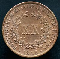 20 REIS 1848 PORTUGAL - Maria II