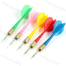 5Pc Plastic Wing Darts Color Needle Kids Tone Dart Steel Brass Throwing Tip Toy
