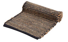 Amalfi Orson Jute Table Runner Black Natural 35 X 140 Cm Made in India