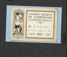 Nostalgia Postcard Union Card London Society of Compositors Designed 1921
