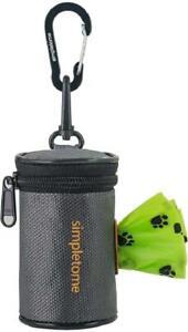 New ListingDog Waste Bag Dispenser for Leash Belt Waterproof Zipper Accessories Black Kit