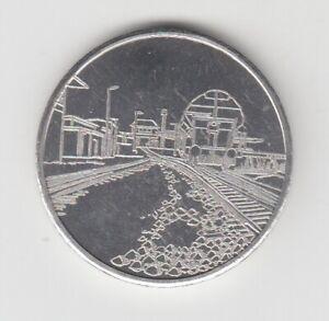 Medaille  DDR  Eisenbahn  Güterbahnhof Halle  1989