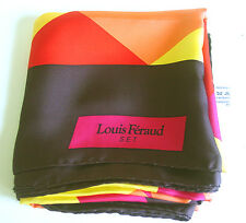 VTG LOUIS FERAUD Women's 100% SILK LARGE SCARF/SHAWL/WRAP-AWESOME COLORS/GERMANY