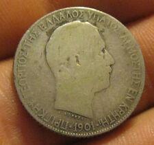 Crete - 1901 Silver 1 & 2 Drachmai Coins - Scarce!
