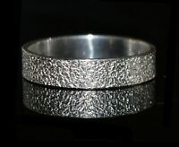 925 Solid Silver Texture Ring 2mm/3mm/4mm - Wholesale
