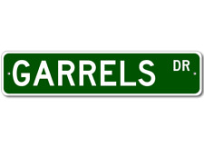 GARRELS Street Sign - Personalized Last Name Signs