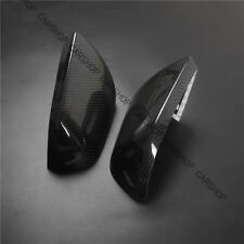 Real Carbon Fiber Side Mirror Cover Fit F Ford Mustang GT W/O LED Signal 15-19