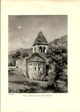 Stampa antica COSIO VALTELLINO Abbazia Sondrio Valtellina 1934 Old antique print