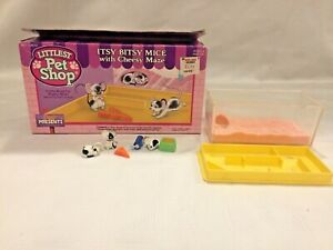 Vintage Littlest Pet Shop Itsy Bitsy Mice w/ Cheese Maze Complete Tonka Kenner