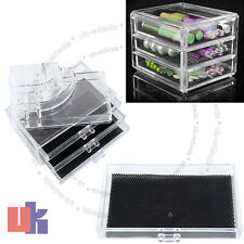New Make Up Cosmetics Display Storage 3 Drawers Clear Acrylic Safe Case Box