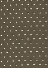 Stoff Baumwolle beschichtet, Luna,  Wachstuch anthrazit/wei�Ÿ Motiv Sterne, Rest