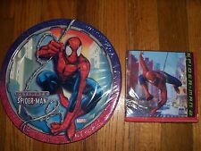 3pc Lot Unique Ultimate Spiderman Birthday Multi-color Party Goods  NOS