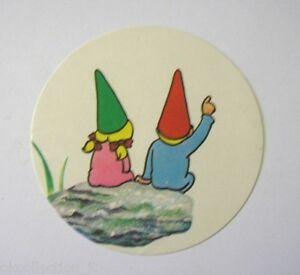 VECCHIO ADESIVO anni '80 / Old Sticker DAVID GNOMO AMICO MIO (cm 7) b
