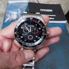 MENS CITIZEN ECO-DRIVE CHRONOGRAPH WRISTWATCH H500-S094542 SUPERB CONDITION
